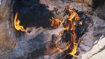 Amanoslar'ın sonsuz ateşi 'yanar taşlar' turizme kazandırılacak