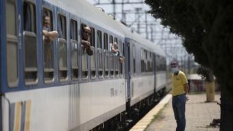Yılın ilk ''arabalı treni'' Kapıkule'den giriş yaptı
