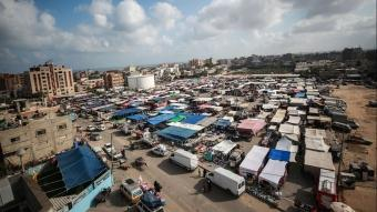 aGazze'de Kovid-19 nedeniyle kapanan halk pazarları yeniden açıldı