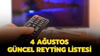 4 Ağustos tarihli reyting sonuçları yayında!
