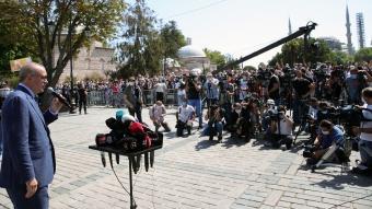 Cumhurbaşkanı Erdoğan, cuma namazını Ayasofya-i Kebir Cami-i Şerifi'nde kıldı