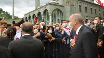 Cumhurbaşkanı Erdoğan, Rize'de