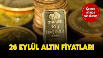 26 Eylül çeyrek altın, gram altın fiyatları canlı ve anlık ne kadar?