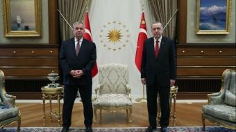 Başkan Erdoğan, Almanya'nın Ankara Büyükelçisi Schulz'u kabul etti