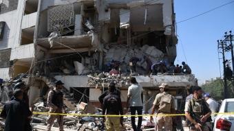 Pakistan'da 4 katlı bir binada patlama meydana geldi! Patlama sonucu 5 kişi öldü, 20 kişi yaralandı