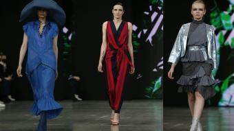 Moskova'da moda haftasında öne çıkan tasarımlar