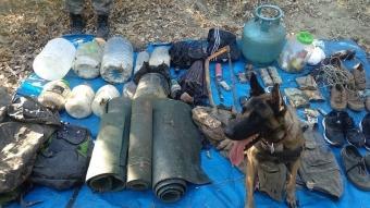 Tunceli'de teröristlerce kullanılan iki sığınak imha edildi