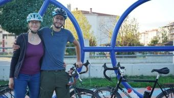İsviçre'den bisikletleriyle yola çıkan iki turist Kırklareli'ne ulaştı