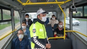 İstanbul'da sabah erken saatlerde toplu taşıma araçlarında koronavirüs denetimi başladı