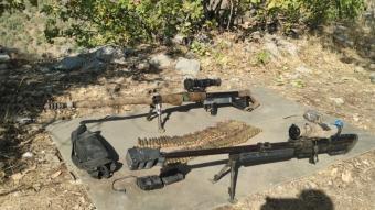 Pençe-Kaplan Operasyonunda çok sayıda silah, mühimmat ve yaşam malzemesi ele geçirildi