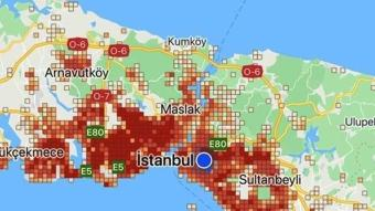 İstanbul'un ilçelerinin koronavirüs yoğunluk haritası güncellendi