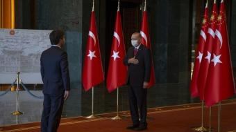 Başkan Erdoğan, 29 Ekim Cumhuriyet Bayramı kutlamaları kapsamında tebrikleri kabul etti.