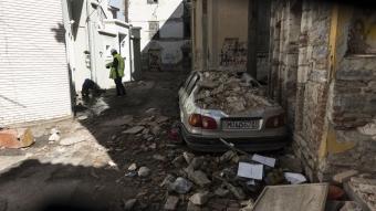 Ege Denizi'nde meydana gelen deprem Sisam Adası'nda hasara yol açtı