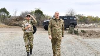Aliyev ve eşinden Ağdam'a ilk ziyaret: Burayı tek kurşun atmadan aldık