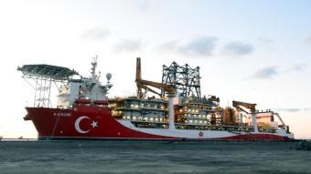 ''Kanuni'' sondaj gemisinin kule montajına başlandı