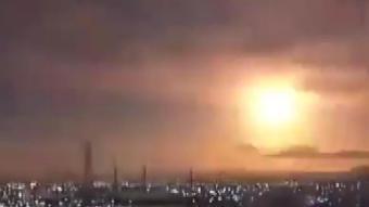 Görüntüler viral oldu: Atmosfere giren göktaşı geceyi adeta gündüze çevirdi