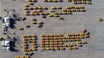 Yenikapı'da taksicilerin taksimetre güncelleme yoğunluğu devam ediyor