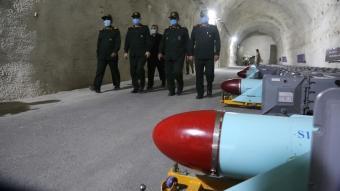 İran yer altı füze üssünün görüntülerini paylaştı
