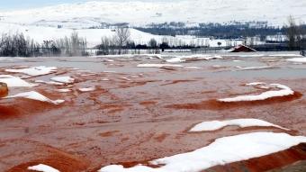 Sivas'taki Altınkale'de kar yağışının ardından güzel görüntüler oluştu