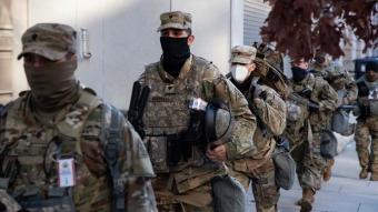 ABD'de güvenlik önlemleri arttırıldı! Askerler sokaklara indi