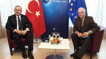 Dışişleri Bakanı Çavuşoğlu, Josep Borell ile görüştü