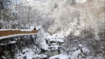 Beyaza bürünen Horma Kanyonu muhteşem manzaralar sunuyor