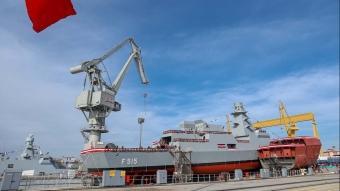 MİLGEM Projesi'nin 5'inci gemisi denize indi