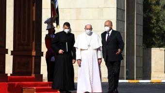 Katoliklerin ruhani lideri Papa Franciscus, Bağdat'ta