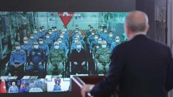 Başkan Erdoğan, Mavi Vatan 2021 Taktik Tatbikatı'na canlı bağlantıyla katıldı