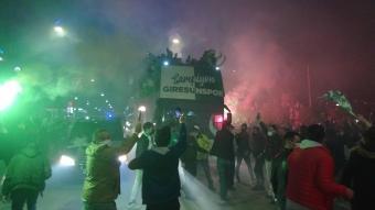 Süper Lig'in yeni takımı GZT Giresunspor, coşkuyla karşılandı