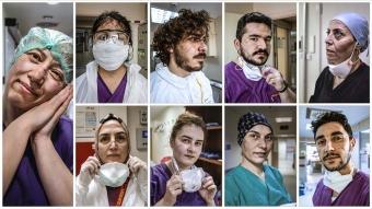 Sağlık çalışanlarının özverisini kare kare gözler önüne serdi