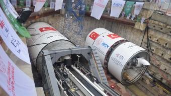 Bakan Karaismailoğlu, Gebze-Darıca Metrosu TBM Töreni'ne katıldı