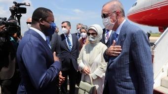 Cumhurbaşkanı Recep Tayyip Erdoğan, Togo'ya geldi