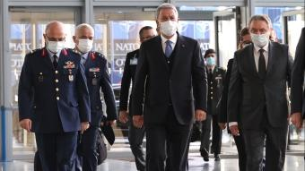 Milli Savunma Bakanı Hulusi Akar, NATO Karargahı'na geldi