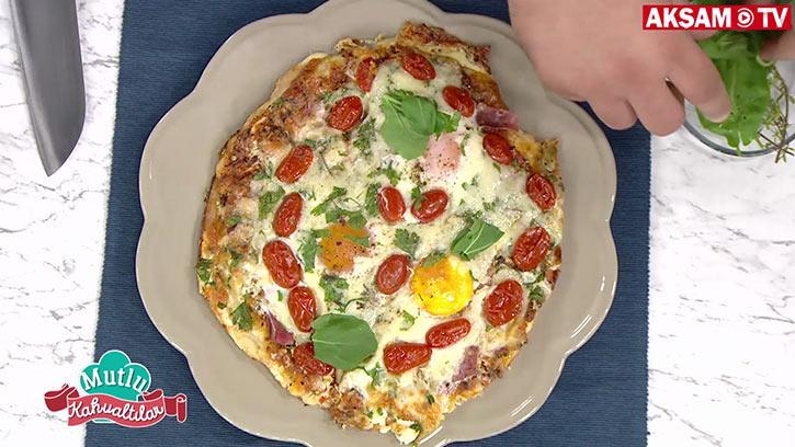 Fırında Baharatlı Kahvaltı Pizzası Tarifi | #MutluKahvaltılar