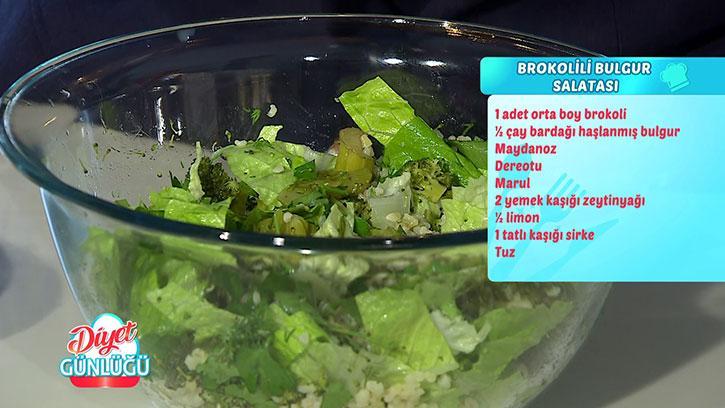 Brokolili Bulgur Salatası Tarifi #DiyetGünlüğü