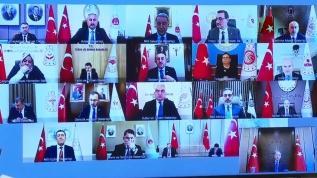 Cumhurbaşkanlığı kabinesi video konferans yöntemi ile toplandı