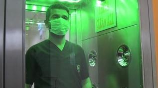 Dezenfeksiyon kabini üretildi