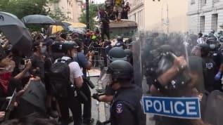 Floyd protestolarına polis müdahalesi