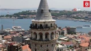 Galata Kulesi'nde restorasyon çalışmaları