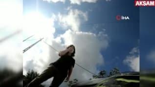 Şile Otoyolu'ndaki motosiklet kazası kameraya yansıdı