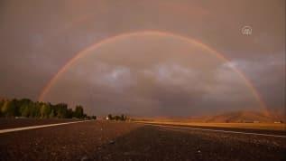Van'da çift gökkuşağı