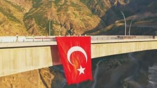 Türkiye'nin en uzun orta açıklıklı 'Beğendik Köprüsü' açıldı