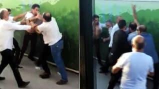 Ankara'da 'otobüsü yavaşlattın' kavgası kamerada