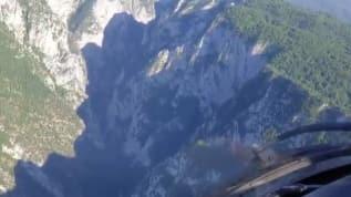 Kastamonu'da yamaçtan düşen vatandaş Hava Kuvvetleri helikopteriyle kurtarıldı