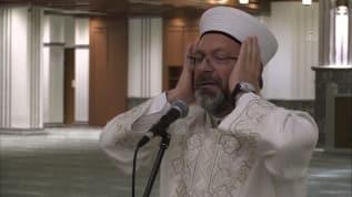 Diyanet İşleri Başkanı Ali Erbaş Millet Camisi'nde sela okudu