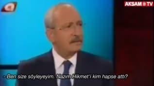 'Nazım Hikmet'i CHP hapse attırdı, Sabahattin Ali CHP döneminde öldürüldü'