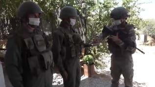 İdlib'de görev yapan Mehmetçikler silah arkadaşlarıyla bayramlaştılar