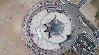 Ay Yıldız şeklinde inşa edilen cami bugün Cuma namazıyla ibadete açıldı