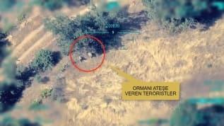 İHA görüntüleri teröristlerin hain planını ortaya çıkardı
